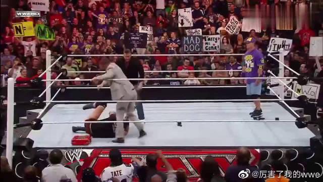 WWE:枢纽军团老大惨遭米兹暴打,关键时候塞纳出手相救…………