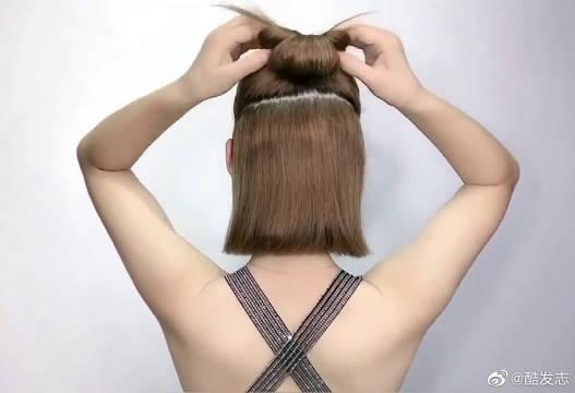 剪了短发这样扎,适合所有人的发型,美呆了