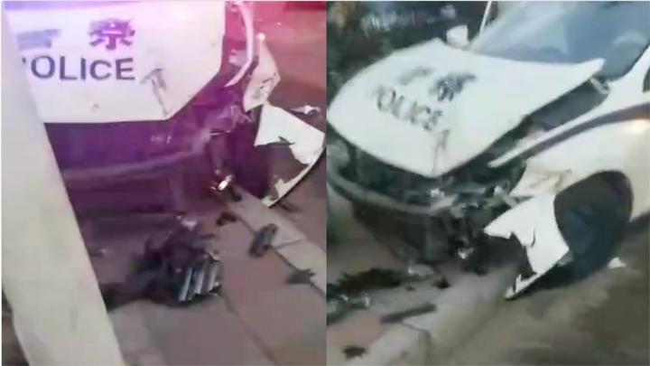 佳木斯警方回应警车与三轮车相撞:民辅警若违法违纪 绝不姑息