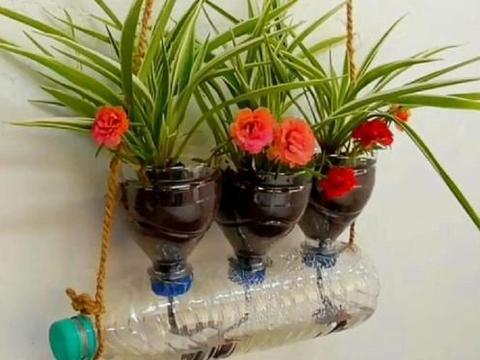 不要再花钱买花盆了,教你改造塑料桶,一分钱不花就轻松搞定
