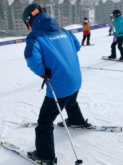 对于初级滑雪者来说,已经很满足了! 该减肥了……
