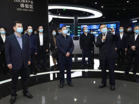 张敬华调研苏宁:苏宁是民营企业创新发展的标杆