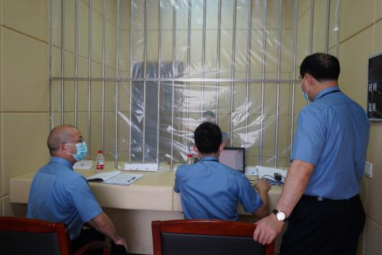 (2020年5月20日,開平市人民檢察院到開平市看守所提審)