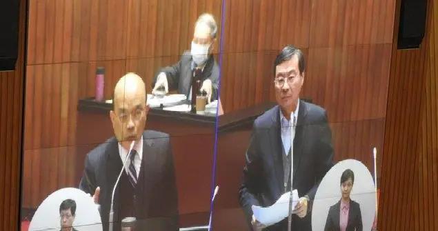 """国民党民代问谢长廷为何返台?苏贞昌全摇头说""""不知道"""""""