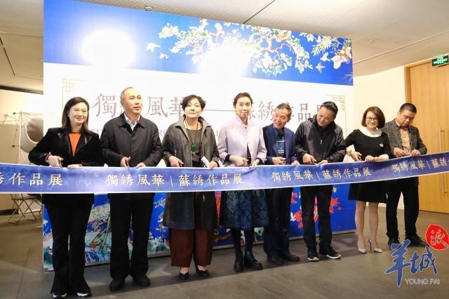 【图集】11米巨幅苏绣作品《千里江山图》亮相广州
