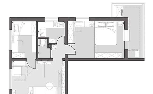 60㎡小两房装修,主卧室定制榻榻米和衣柜,全屋精致小巧很实用!