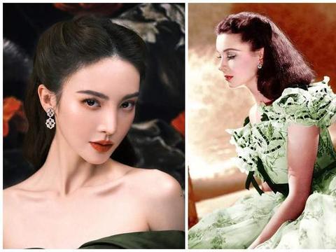 被金晨红毯造型惊艳,绿色礼服撞美斯嘉丽,欧洲贵妇头超美