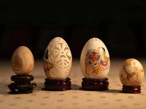 """蛋雕工艺不简单,不仅要手艺扎实,还要用""""鸸鹋""""的蛋壳"""