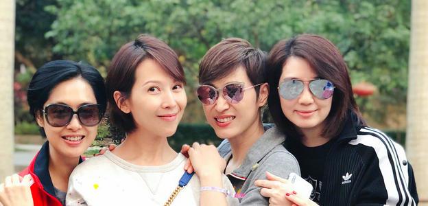 港普3姐妹聚会,陈法蓉保养最好,蔡少芬最幸福,洪欣一言难尽