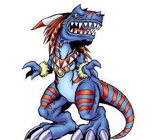 数码宝贝:麻鹰兽的装甲体,凶猛的恐龙型数码兽,咬疼机械暴龙兽