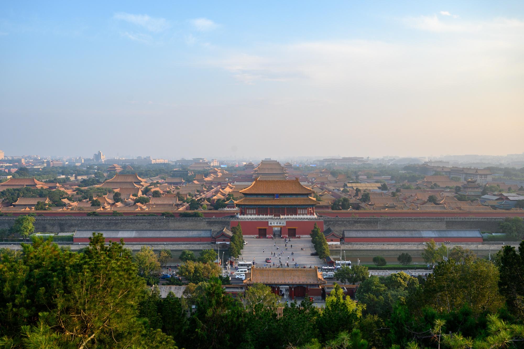 北京景山公园,可俯瞰故宫全景的地方,门票只要2块钱