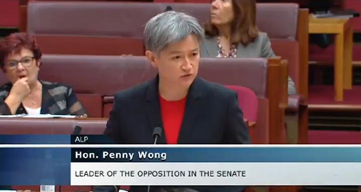 澳士兵理应被尊重,中国应该受谴责,她说的。图片