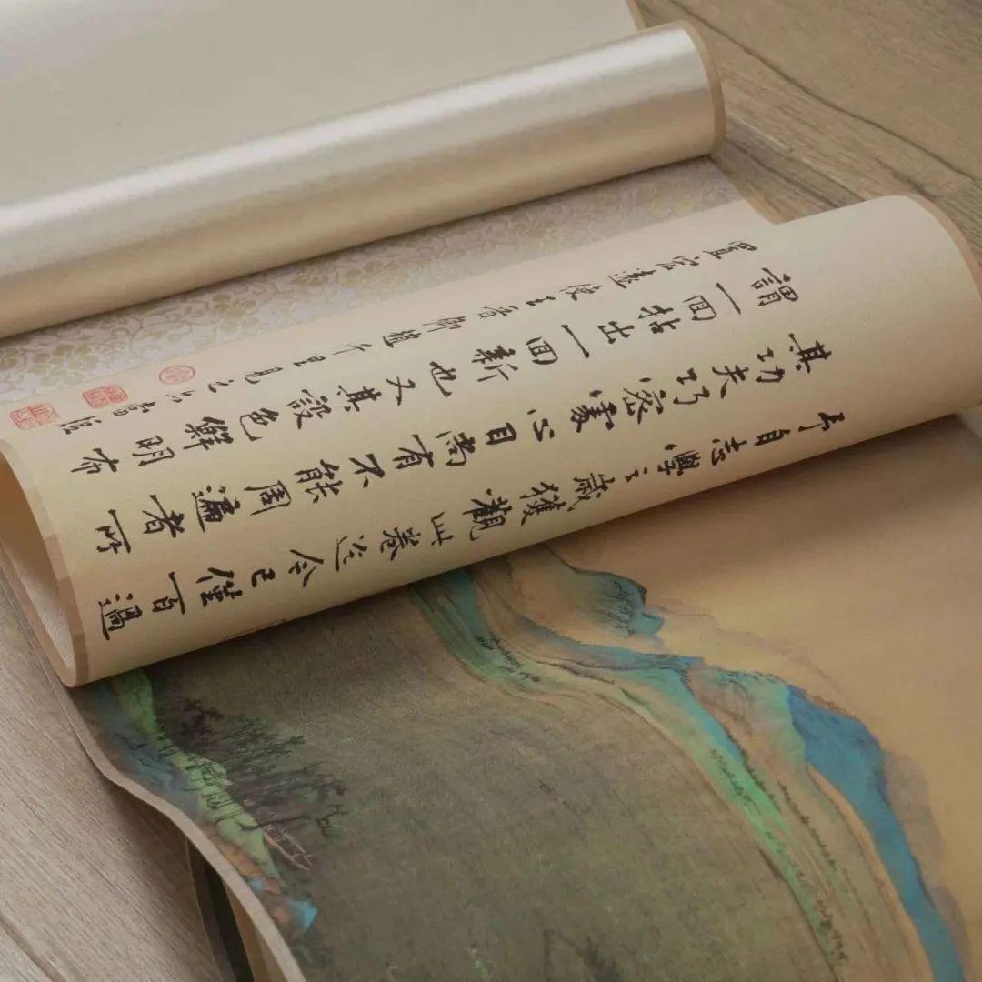 中国山水画与丝绢文化的结合 | 高清复刻《千里江山图》