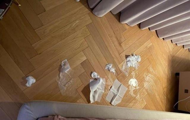江疏影分享卧室雅图,因一地卫生纸,引起网友污言秽语热评
