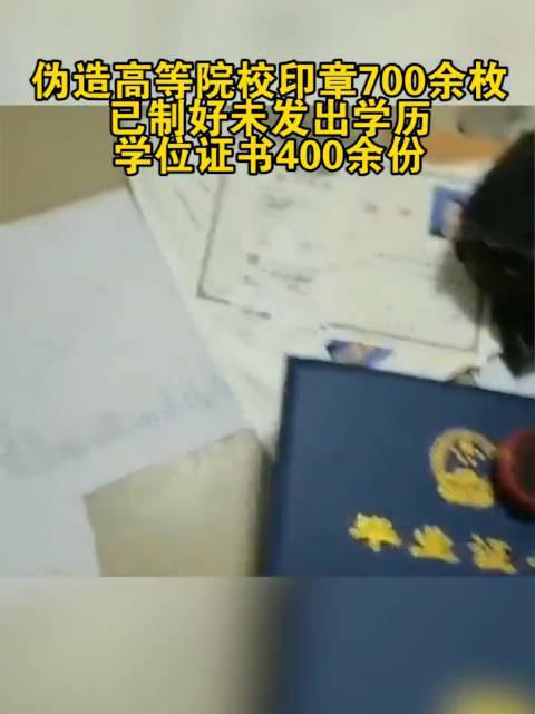 江苏徐州警方成功抓获涉嫌伪造学历证明的7名嫌疑人……