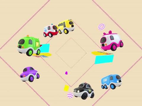 乐享知识乐园的红色跑车玩具驶入圣诞停车场