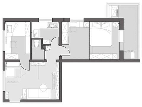 60㎡小两房收纳超强,主卧室定制榻榻米和衣柜,全屋精致小巧实用