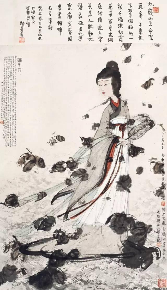 大师傅抱石美人画:妩媚动人、风情万种