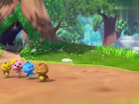 萌鸡小队:萌鸡找到可爱的蒲公英,小伞随风飘扬,它要去哪安家呢