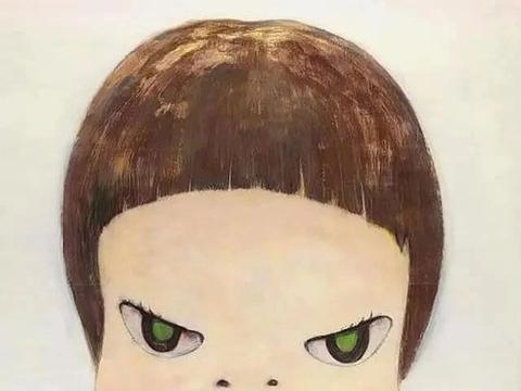 追忆童年,奈良美智创作了q版小女孩,寓意深刻引人关注