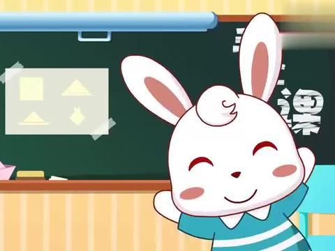 兔小贝手工课堂:今天学习折小猪脸,折完别忘了画上猪鼻子啊