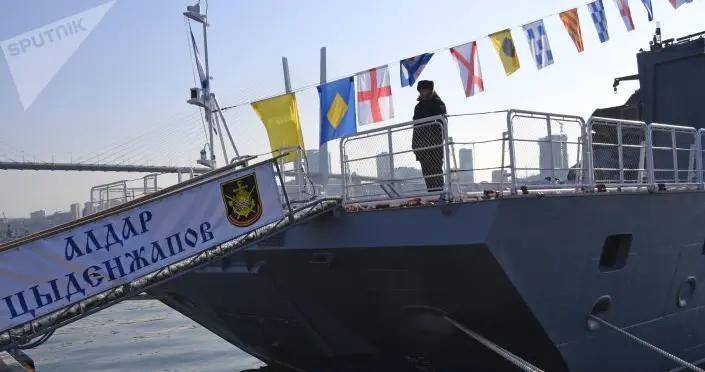 """俄新型扫雷舰""""雅科夫∙巴利亚耶夫""""号进入太平洋舰队服役"""