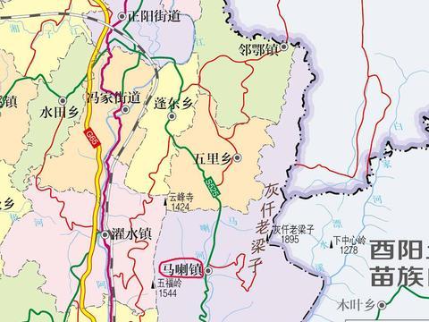 重庆黔江区一个镇,以土家语命名,是全国重点镇