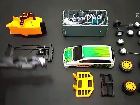 早教亲子动画锻炼孩子脑力的汽车组装,宝宝益智玩具屋
