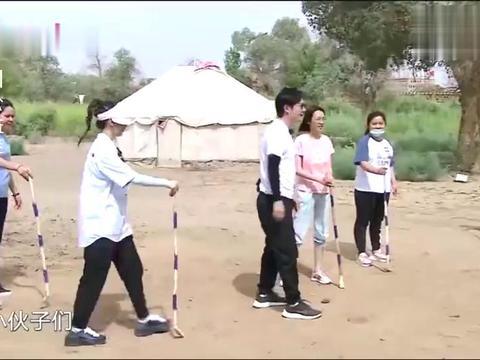 极挑:沙地曲棍球游戏挑战,杨超越现场指导郭京飞,爆笑全场