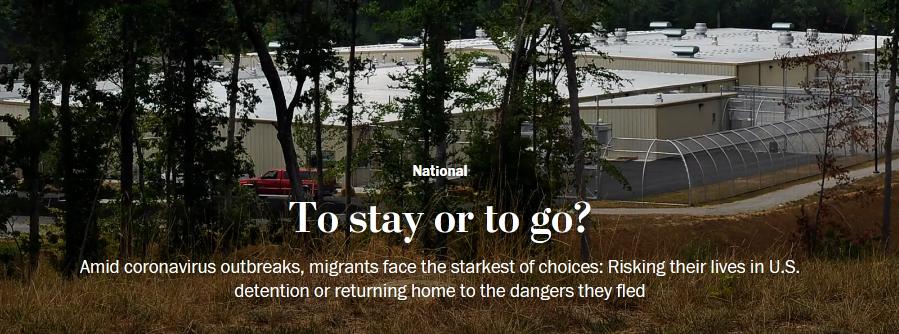 新冠疫情重创美移民拘留中心 非法移民求被驱逐出境