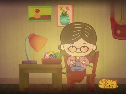 亲子教育动画:孩子离家工作,妈妈盼着他回来,树叶掉了都回不来