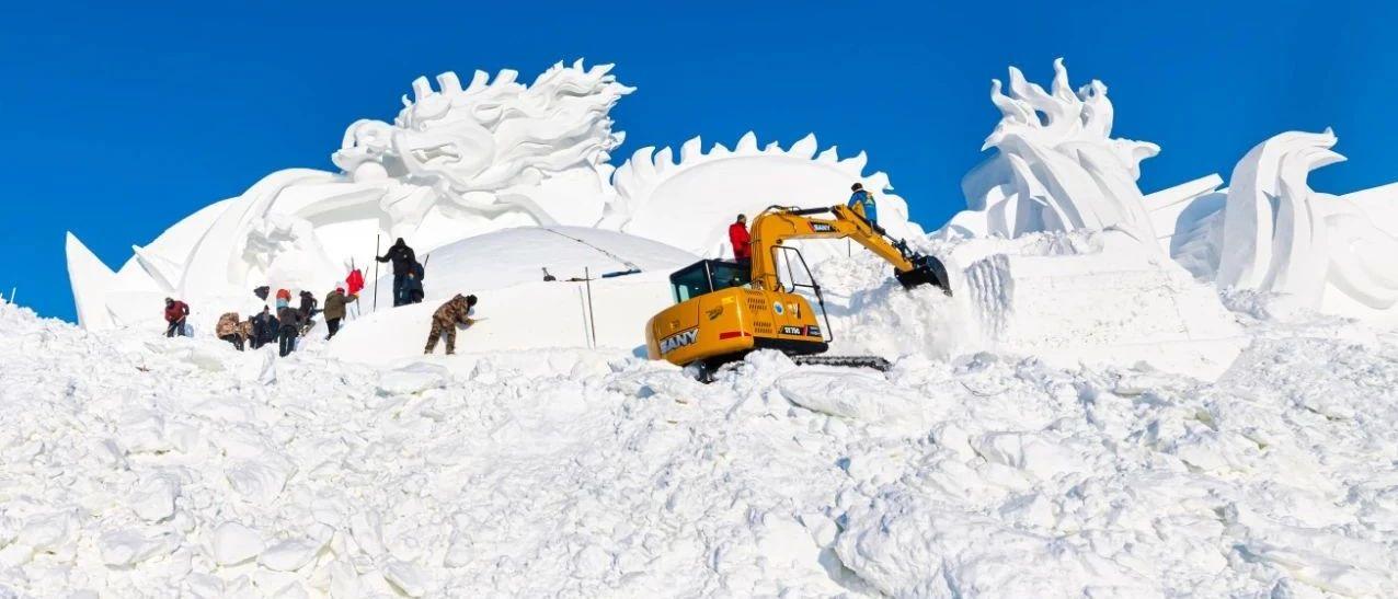 """雪雕工匠是这样一群""""大叔"""",他们盼着""""后浪""""追来……"""