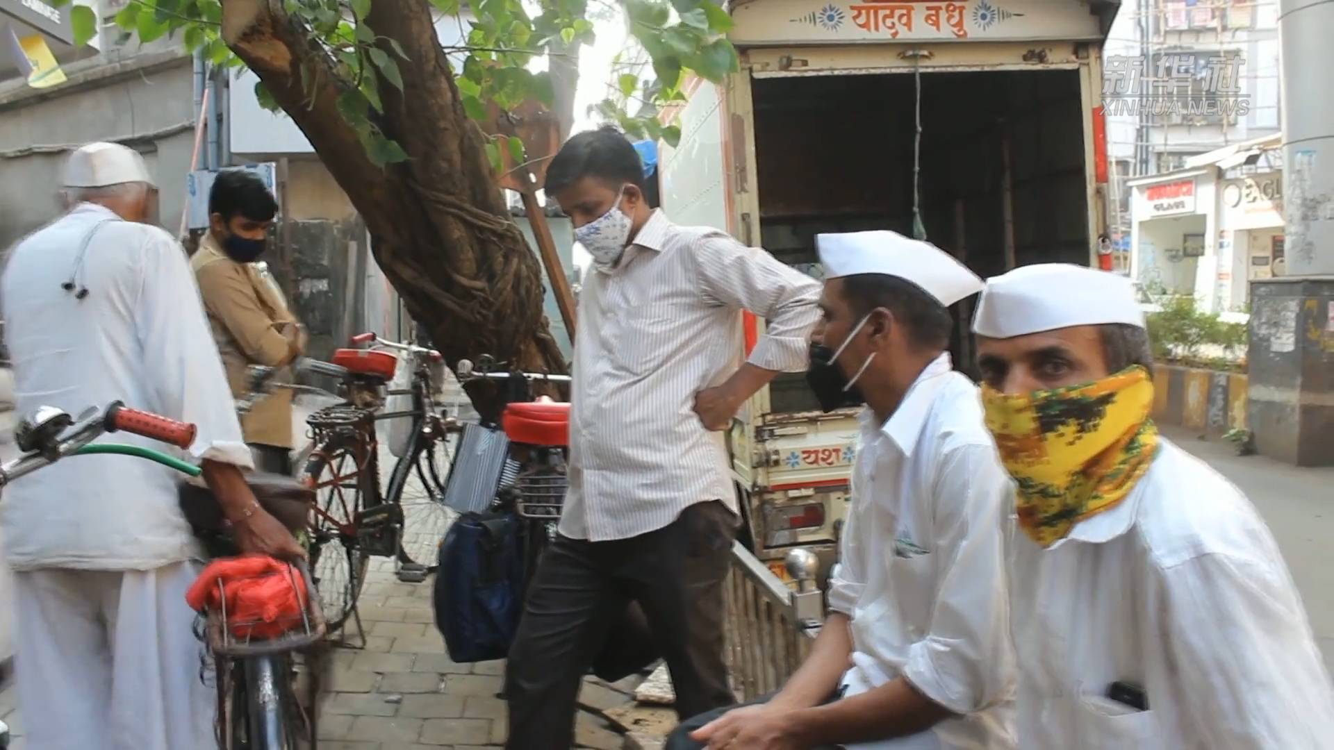 """印度孟买:百年""""达巴瓦拉""""疫情下艰难求生"""