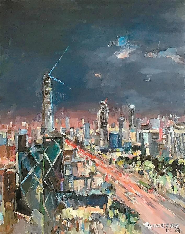 老中青三代美术作品展现城市记忆