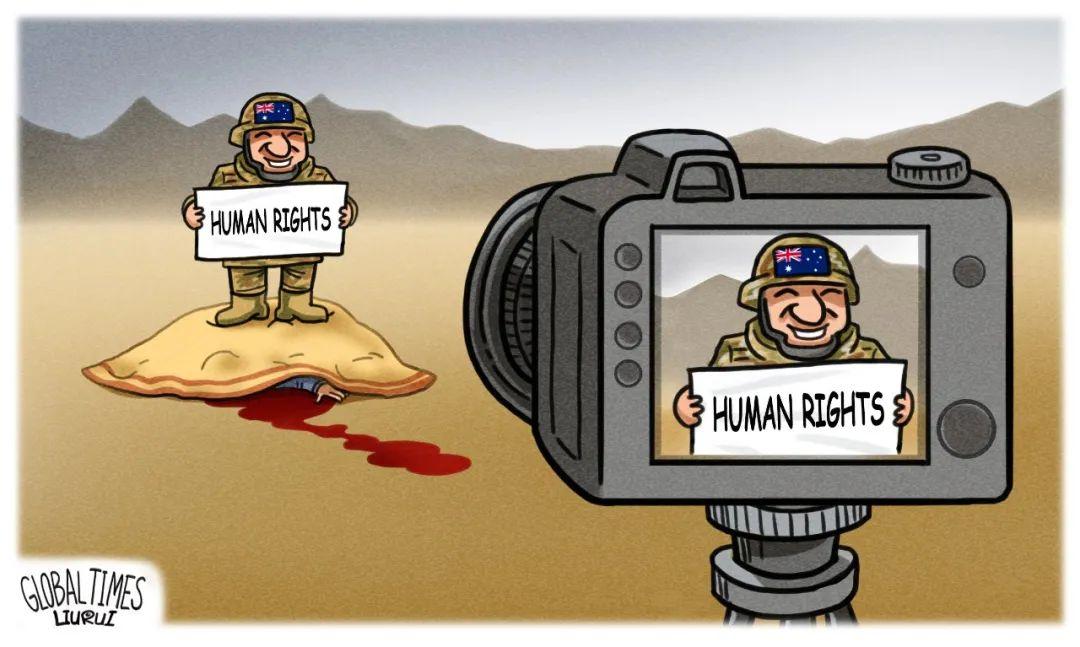 漫画,《环球时报》也出一张图片