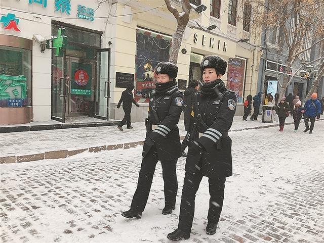 哈尔滨市道里公安分局女子巡逻辅警大队 节日前加强防控