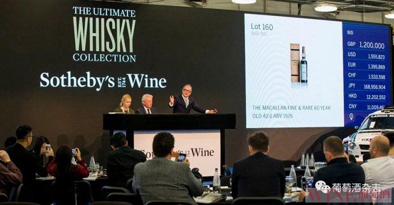 2020年,苏富比精品葡萄酒和烈性酒销售额突破9200万美元