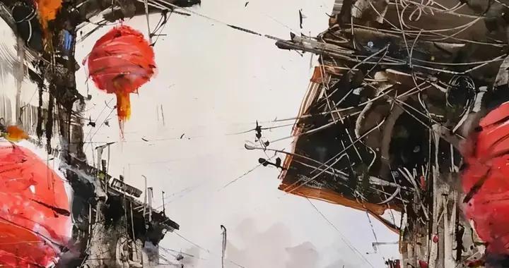 意大利画家罗伯托 畅快淋漓的水彩风景画作品欣赏