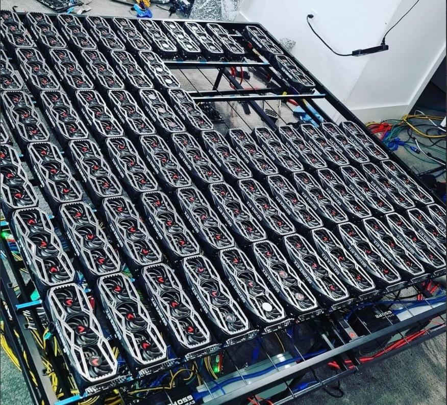 拉斯维加斯矿主晒豪华矿机:搭载 78 块 RTX 3080