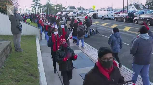 视频|医院防护用品与人手短缺 纽约州护士纷纷罢工