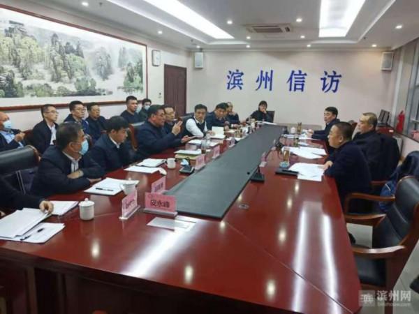 滨州市委副书记张月波到市信访局调研指导工作
