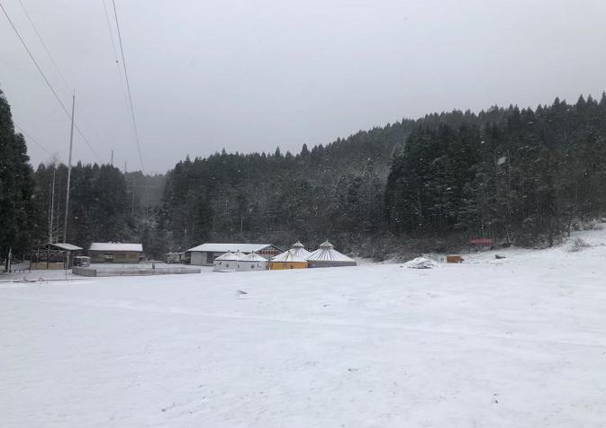 森陵山武林公园。雪景 涪陵公布供图