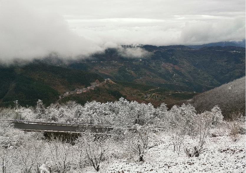 巫山。雪景 向勇 摄