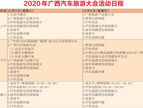周末相约2020年广西汽车旅游大会