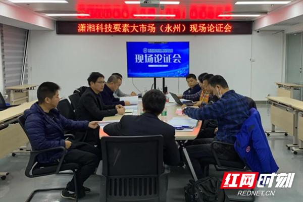 湖南省科技厅专家到永州经开区调研潇湘科技要素大市场永州分市场