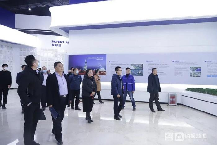 山东省第五届智能制造(工业4.0)创新创业大赛的企业项目负责人进行参观学习