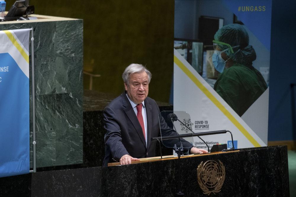古特雷斯呼吁全球团结抗击新冠疫情