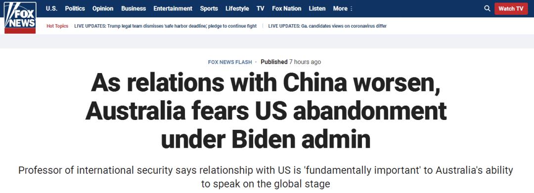 """""""在澳大利亚,总有一种害怕被美国抛弃的恐惧""""图片"""