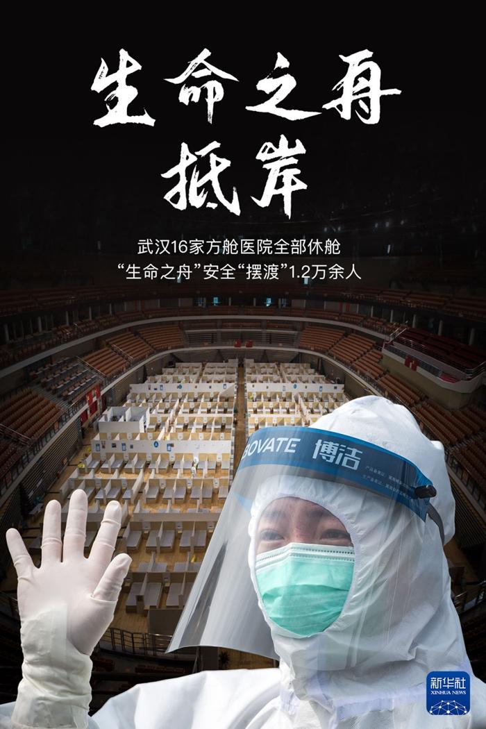 海报|今日武汉16家方舱全部休舱图片