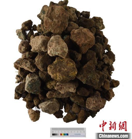 二里头灰坑中出土的铜矿石。山西省考古研究所提供